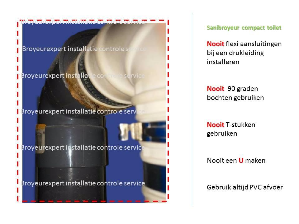 Sanibroyeur Toilet Aansluiten : Installatie sanibroyeur compact wat mag er in een toilet