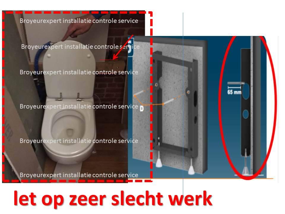 Onderwater Toilet Installeren : Installatie sanibroyeur hangtoilet wat mag er in een toilet