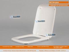 WC-Broyeur 50 zitting kunststof.