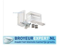vloerbevestiging wc broyeur