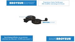 Terugslagklep zij-invoer Sanibroyeur unit AU010110